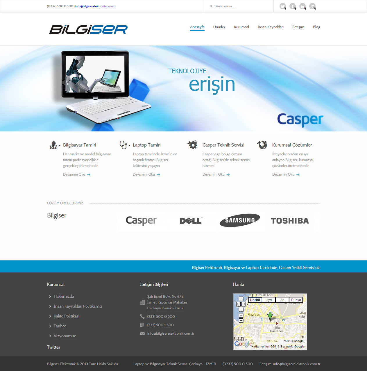 Bilgiser Elektronik   Casper Yetkili Servis İZMİR   Notebook Tamir Servisi