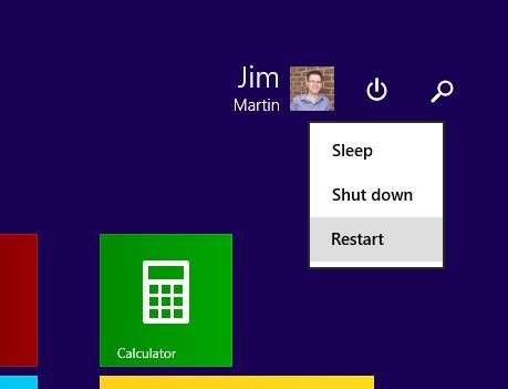 Windows 8.1 Güç Düğmesini Kaldırın