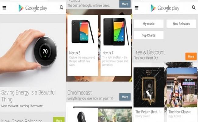 Google Play Store Mobil Tasarıma Kavuştu