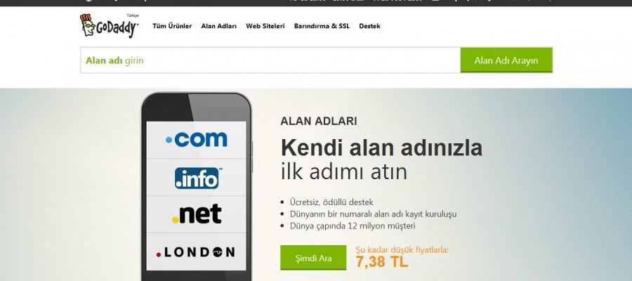 GoDaddy Türkçeleşti