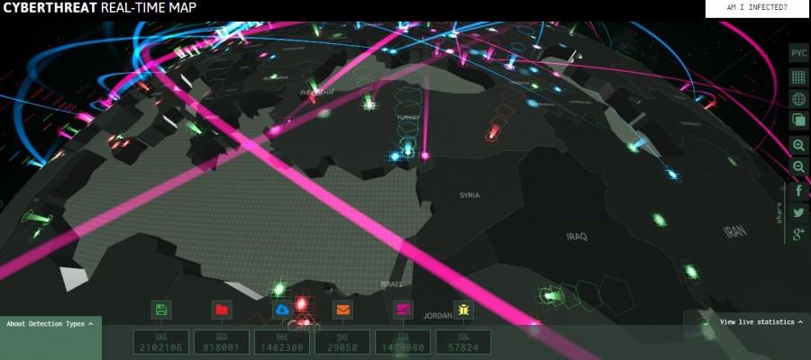 Kaspersky İnteraktif Siber Tehdit Haritası