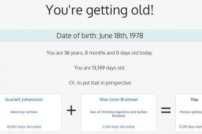 You're Getting Old, Yaşımızla İlgili Gerçekleri Gösteriyor!