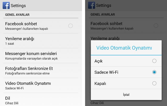 android-faceotomatik-video-kapali