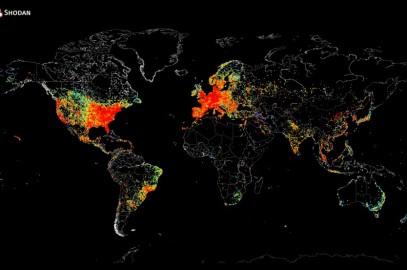 İnternete Bağlı Makinaların Haritası